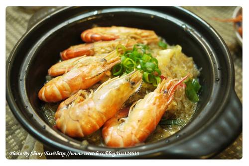 鮮蝦粉絲煲作法及食譜
