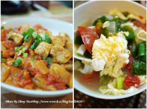 番茄炒雞丁和番茄蛋花湯食譜